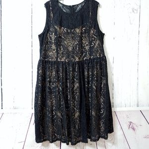 Modcloth Mystic Black Lace Illusion Dress, nwot